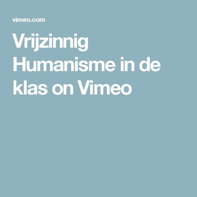 Vrijzinnig Humanisme in de klas on Vimeo