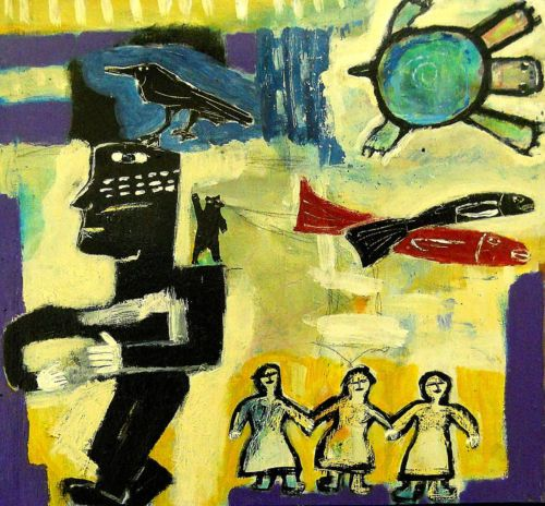 This Magic Moment Outsider T Marie Nolan Raw Folk Art Brut Painting Original | eBay