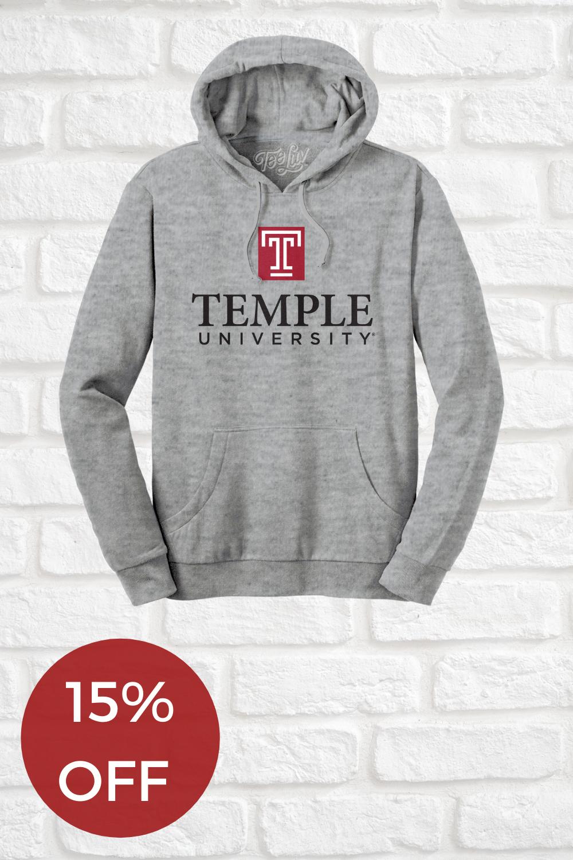 Temple University Logo Hooded Sweatshirt Oxford Gray In 2020 Sweatshirts University Sweatshirts University Logo [ 1500 x 1000 Pixel ]