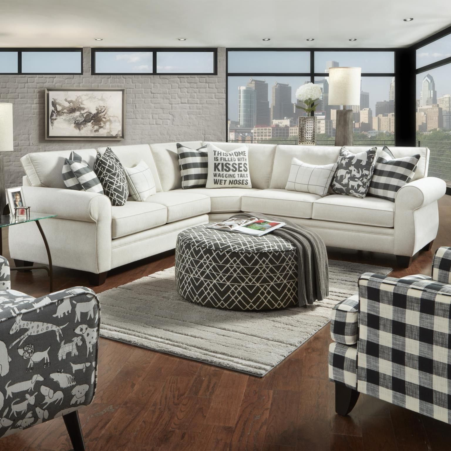 Genial Popstitch Shell 3 Piece Sectional By Fusion Furniture Inc