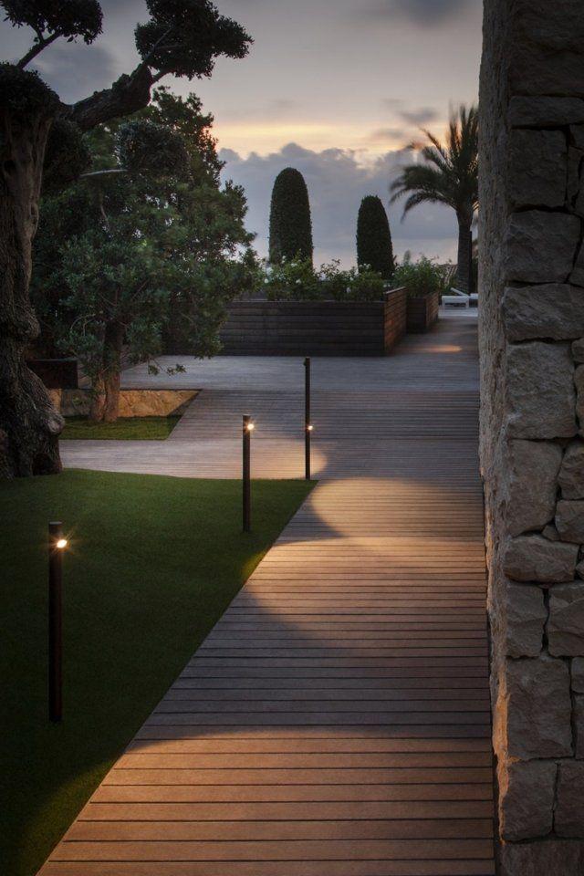 Fancy dekorative Wegleuchten LED im Boden eingelassen BAMBOO Vibia