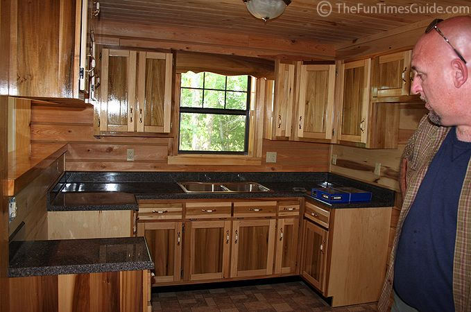 Updated cabin kitchens cabin kitchensrustic kitchen i for Cabin kitchen cabinets