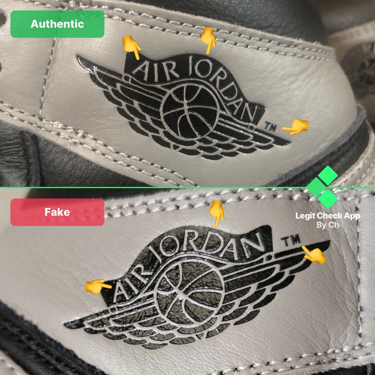 Step 3 Analyze the Air Jordan logo's lettering on your