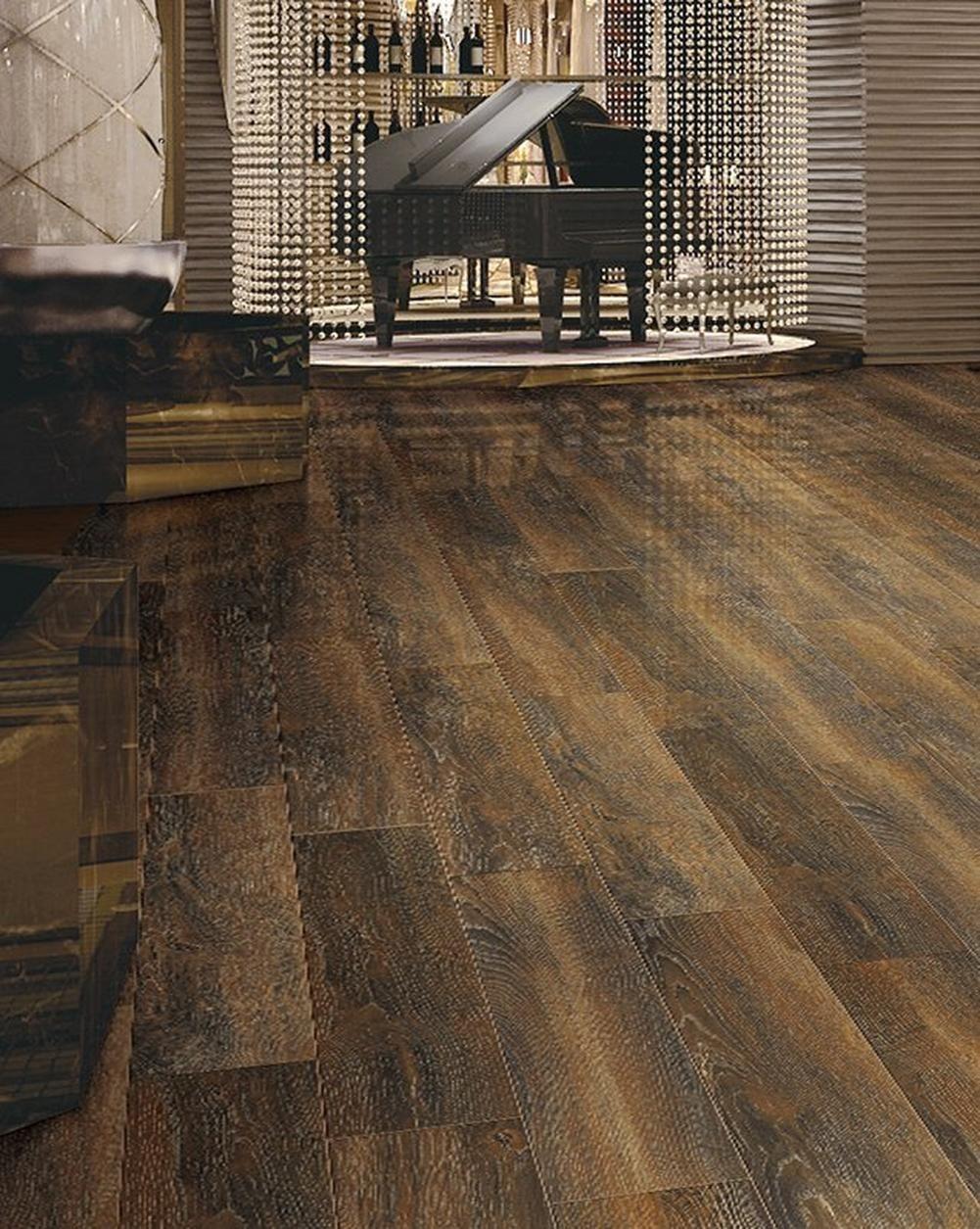Denali Walnut Ceramic Tile Floor Wood Look