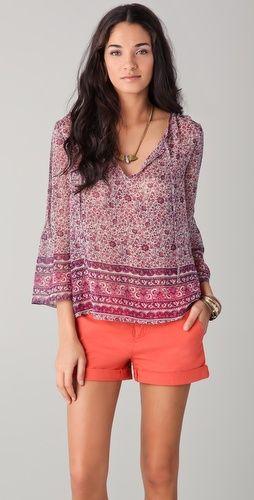 flowy silk blouse from joie