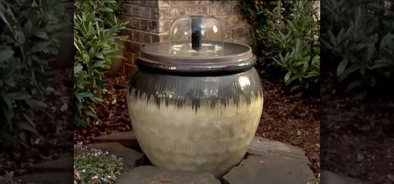 How to create a home water fountain with lowe 39 s creative for Do it yourself water features