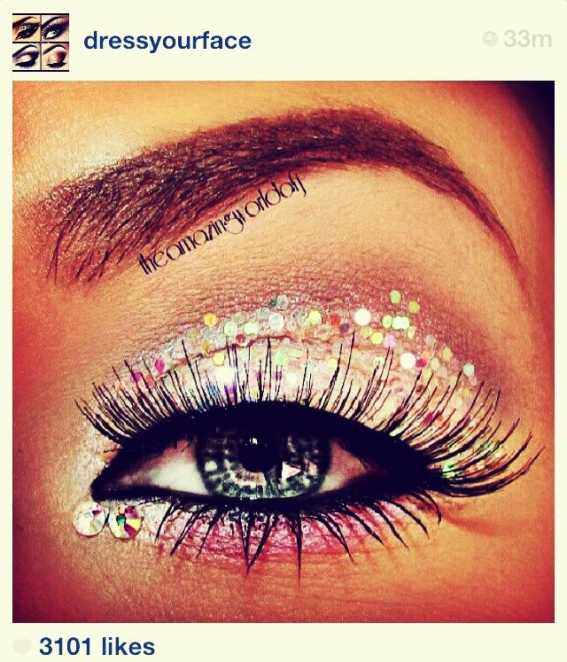 Glitter eyes by dressyourface