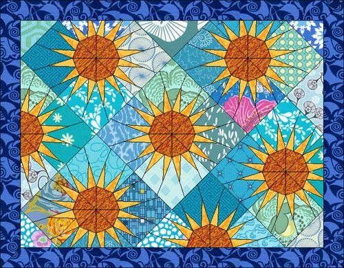 Summery Sunrises   Sunflower quilts, Quilt design and Patterns : quilt design wizard - Adamdwight.com