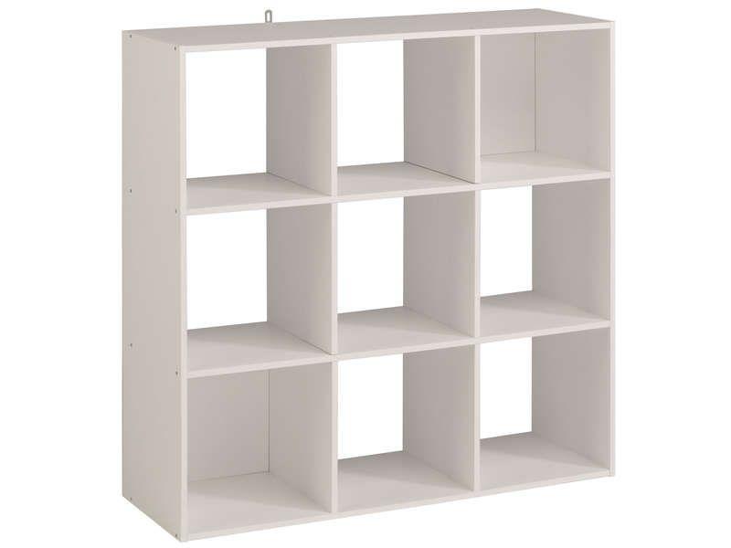 Bibliotheque 9 Cases Kubikub Coloris Blanc Pas Cher C Est Sur Conforama Fr Large Choix Prix Discou Stockage De Cube Ikea Rangement Bureau Ikea Rangement