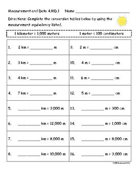4th grade measurement worksheets activities and center cards 4 md 1 and 4 md 2 elementary. Black Bedroom Furniture Sets. Home Design Ideas