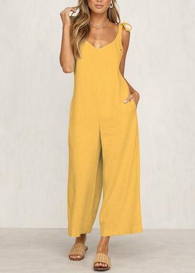 27e571257 Compre Macacão Pantacourt Decote nas Costas Amarelo