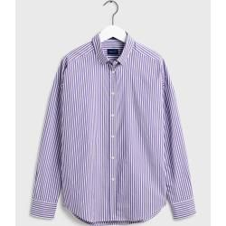 Photo of Gant Oversized Tech Prep™ Gestreifte Broadcloth Bluse (Lila) Gant