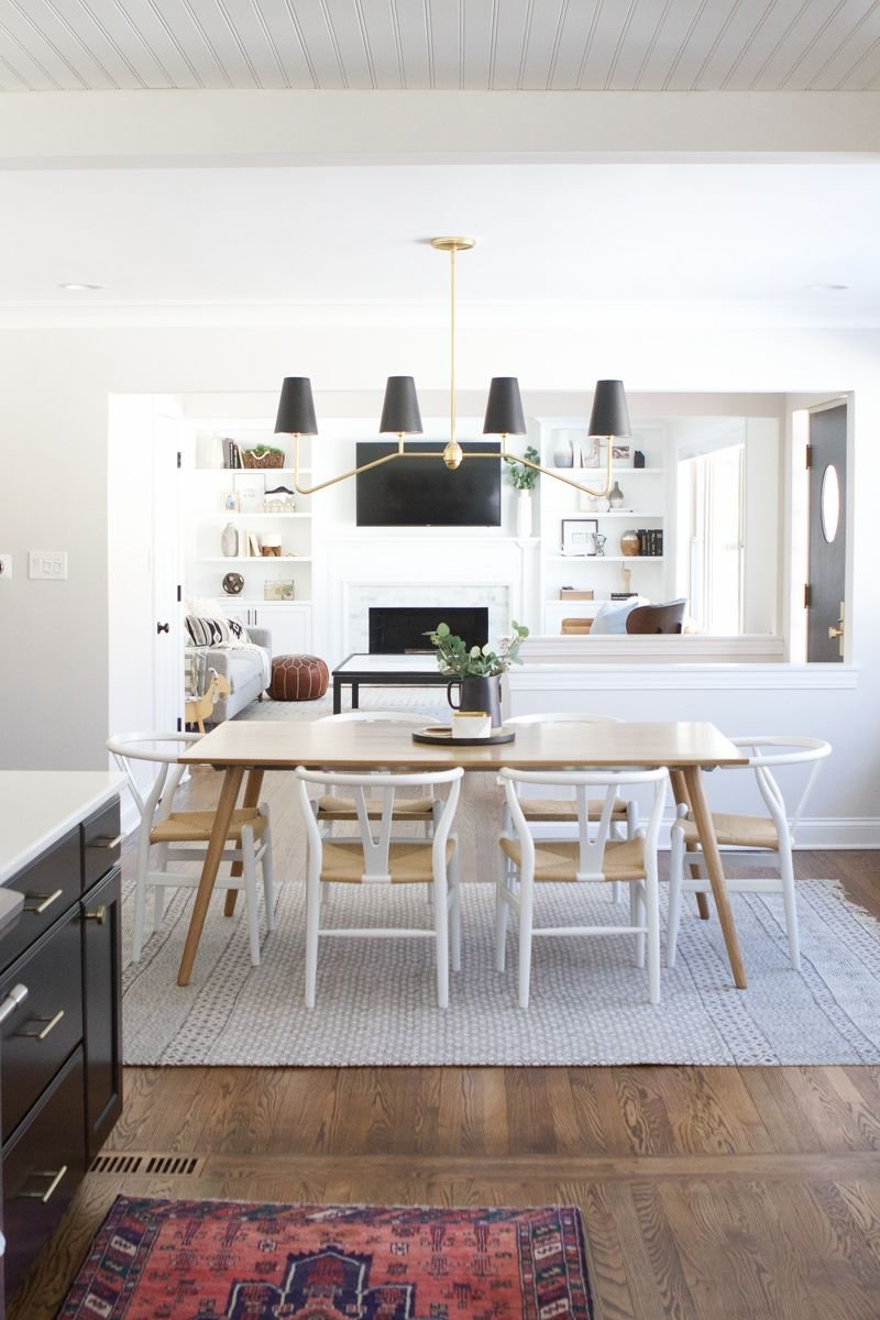 A Full Source List For This Black And White Kitchen Details On The Open Shelving