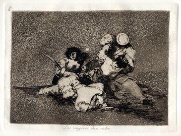 Los desastres de la guerra - 4. Las mujeres dan valor - 1810-15