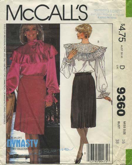 Vintage Sewing Pattern featuring Linda Evans | Nolan Miller\'s ...
