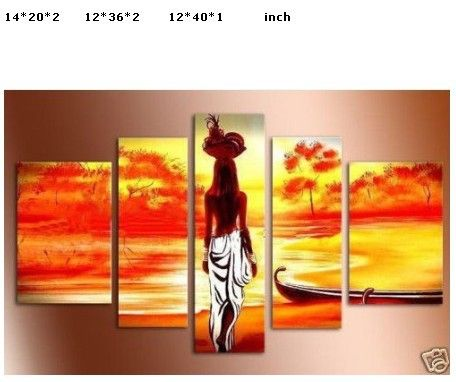 African Abstract Paintings On Canvas | Modern Abstract Oil Paintings Canvas African woman-in Painting ...