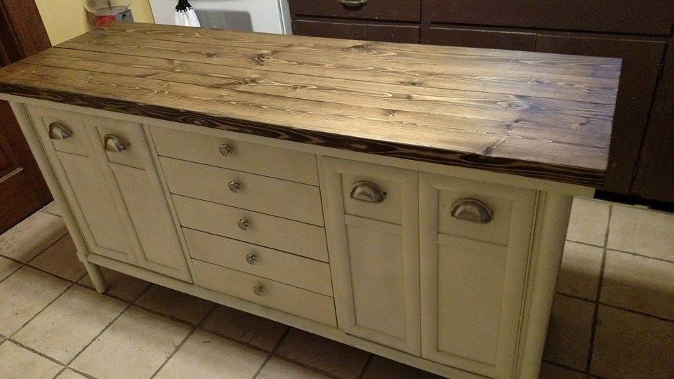 Old Buffet To Kitchen Island With