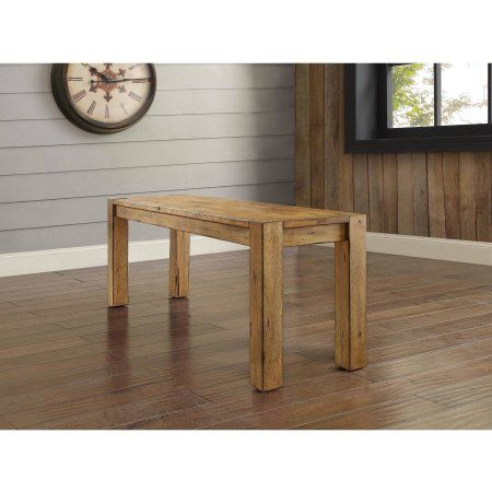 Lovely Better Homes U0026 Gardens Bryant Solid Wood Dining Bench, Rustic Brown Finish    Walmart.com