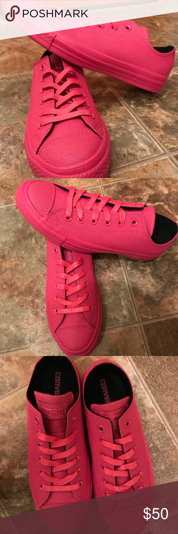 3294659db9a427 Hot Pink rubber Converse NWOB 🎀 Size 8. Hot pink Converse. These are not  the classic canvas ones. They are all rubber!! ❤ ❤ NWOB Converse Shoes ...