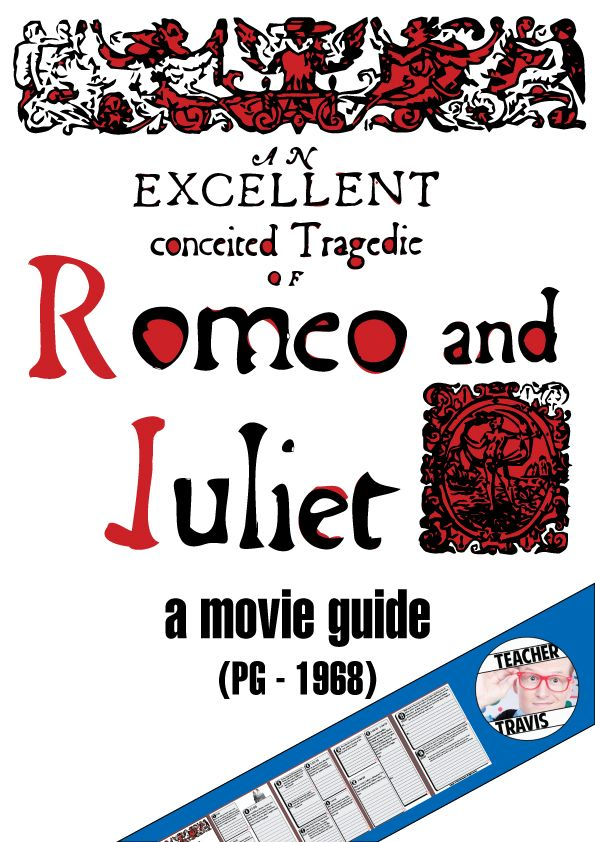 Romeo And Juliet Movie Guide Questions Worksheet Pg 1968