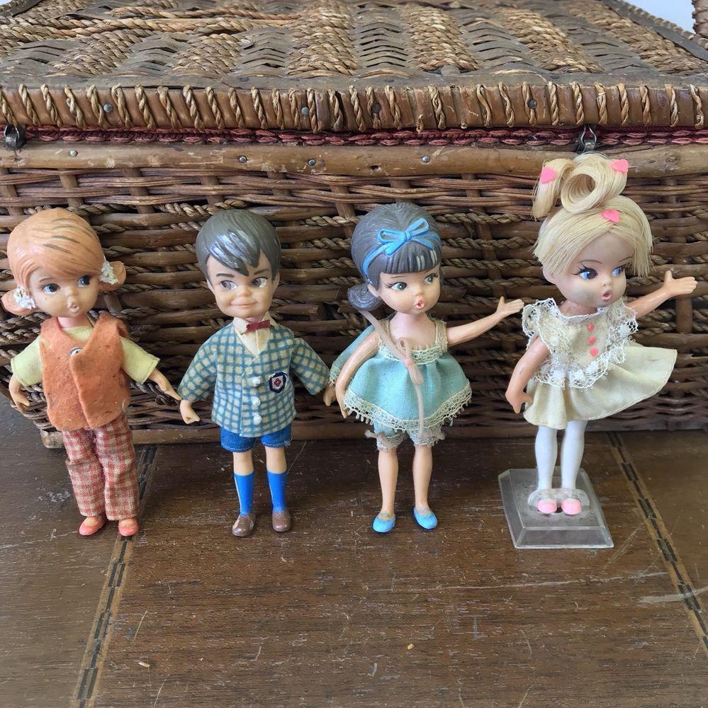 Lot of 4 Vintage 1965 Hasbro Dolly Darlings Dolls 1960s eBay