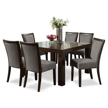 Tango Gray Dining Room 7 Pc. Dinette (50\'\' Table) - Value City