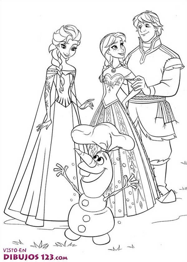 TE CUENTO UN CUENTO: Frozen dibujos para colorear | frozen ...