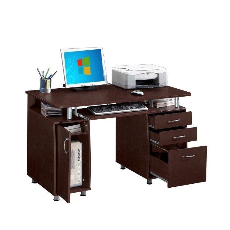 Dorm Room Computer Desk Keyboard Tray File Cabinet Laptop Writing Back To School