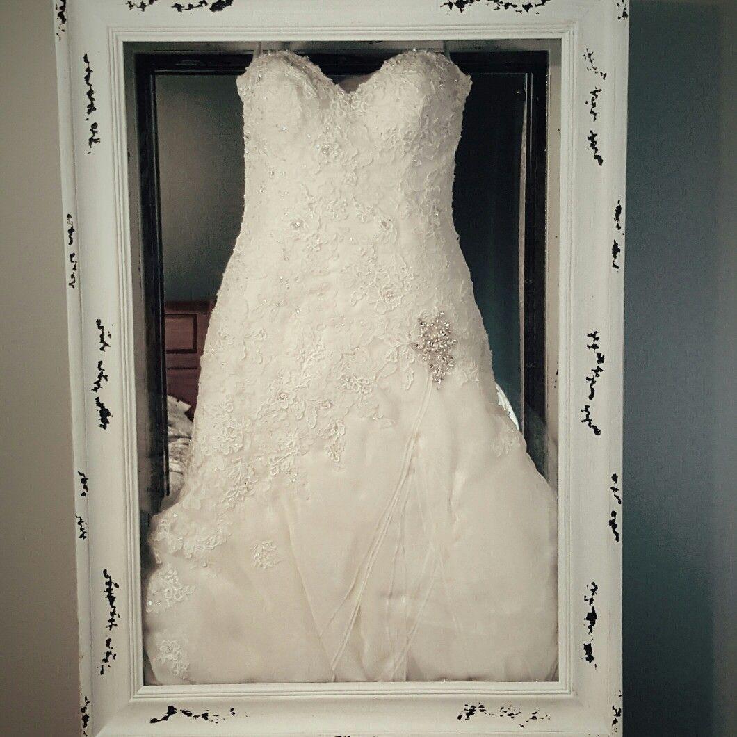 Diy Wedding Dress Shadow Box With Uv Protected Glass Wedding Dress Shadow Box Repurpose Wedding Dress Wedding Dress Display