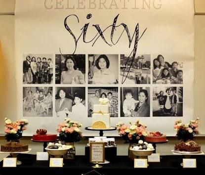 Image result for photo display ideas th birthday party also men rh pinterest