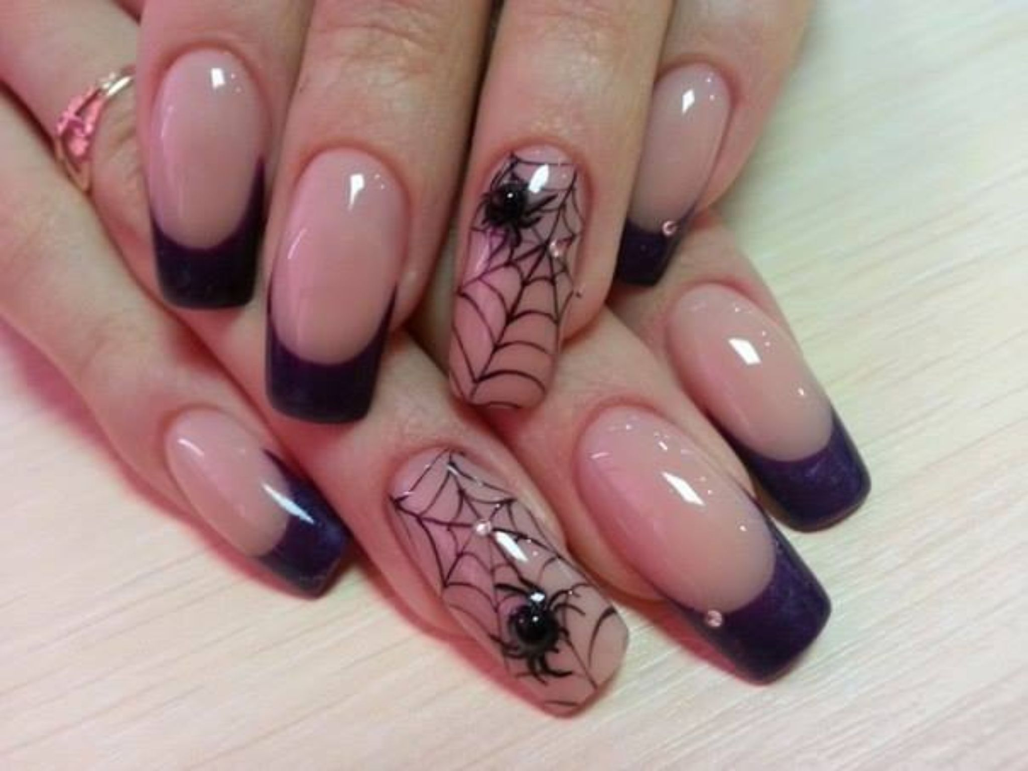 25 fine spider nail design ledufa outstanding spider nail design 21 amid inspiration article prinsesfo Image collections