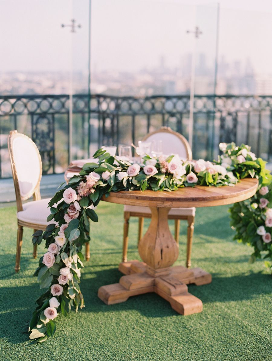 small wedding hotels london%0A Hollywood Rooftop Wedding Fit for a