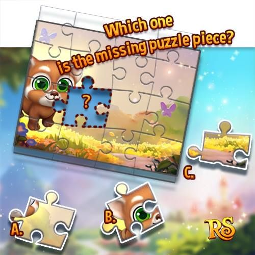 Happy Weekend Quiz Time! Join Now!  http://t.funplus.com/trenfpu  Which one is the missing puzzle piece? A B or C?  COMMENT your answer now together with your SNSID (at the bottom of your game screen) to have a chance to WIN A RUBY!! 5 lucky players will be chosen. Try your luck and come back on Monday to see if you have won!   Answers that do not have a SNSID number will not be accepted! Answers submission deadline: Jan. 16th (06:59 AM UTC).   Click LIKE & SHARE when you write down your…