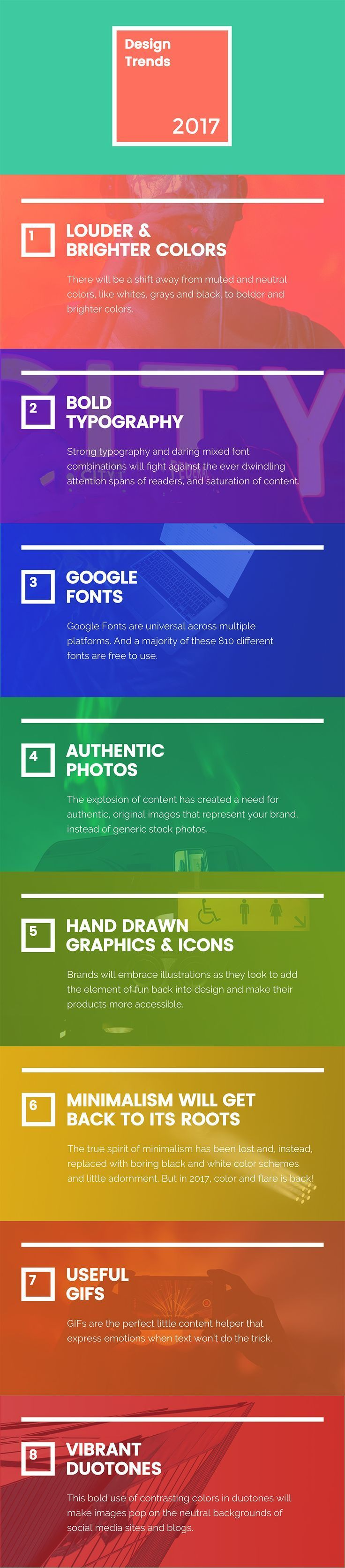 8 new graphic design trends that will take over 2017 - infographic