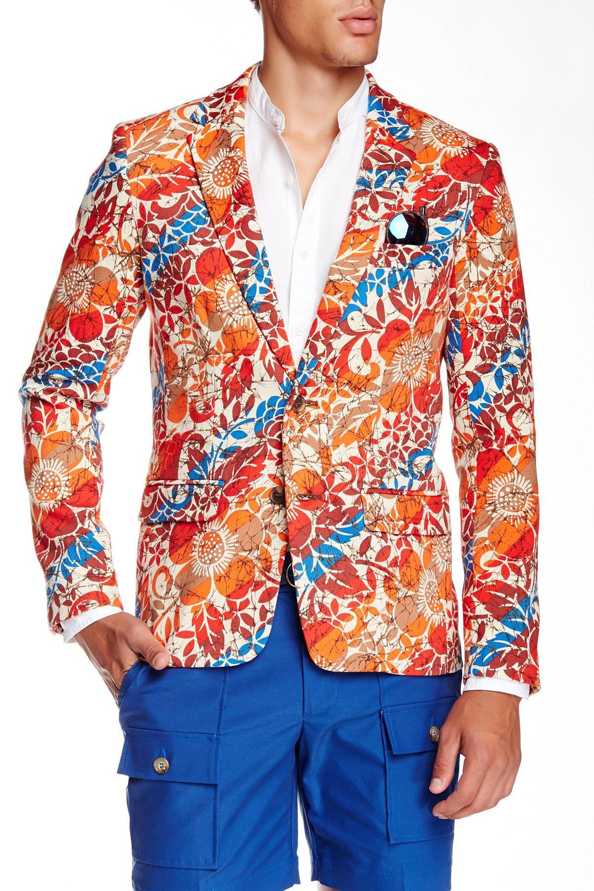 Mr.Turk Mens S/S Polka Dot Alan Shirt Orange - Shirts & Tops