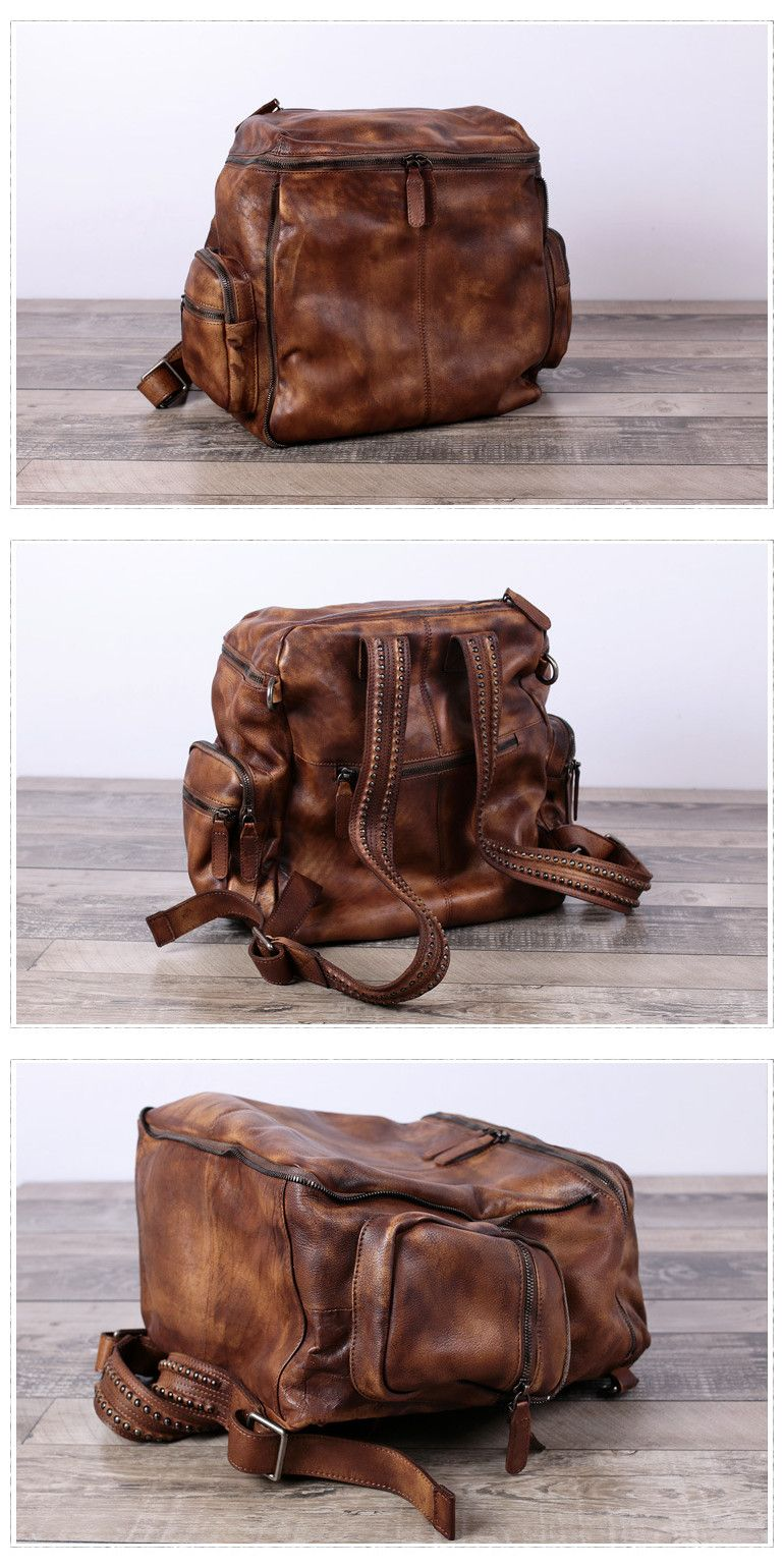 Leather · Handmade Full Grain Leather Backpack Travel ... purchase cheap  4451e 4994a ... 3960dd4575