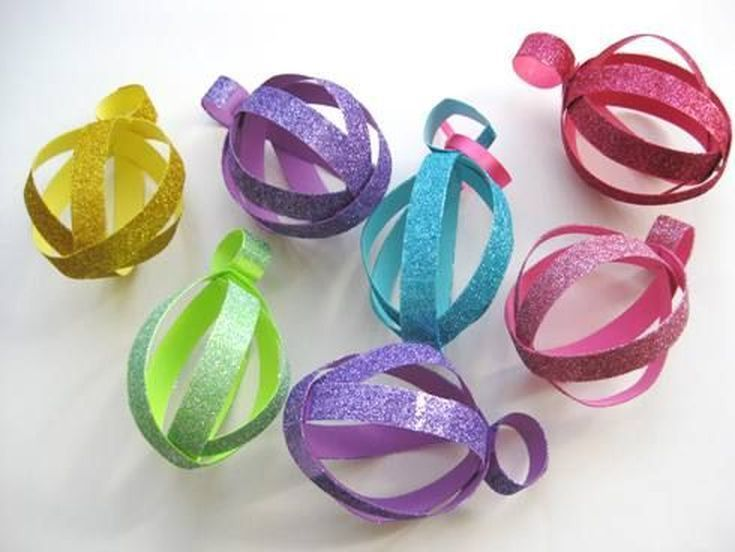 Easy (and Adorable!) Easter Crafts for Kids: How to Make Glittery Easter Egg-Shaped Paper Ornaments