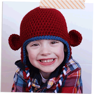 Monkey Earflap Hat