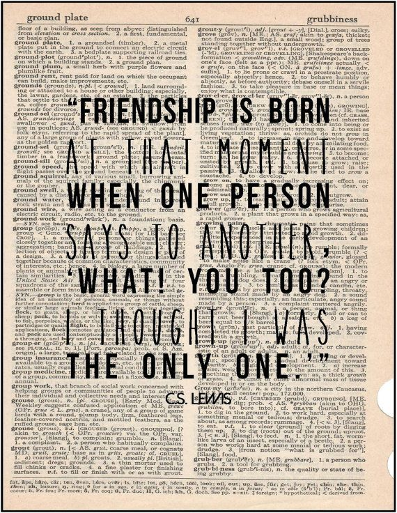 Christian Social Worker Sample Resume Glamorous C.slewis Friendship Literary Quote Typography Print Friends Bff .