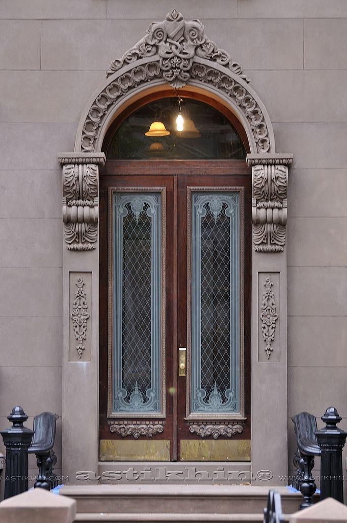 Brooklyn, NY Double Door, doorway, portal, entrance, come on in, beauty, curve, ornaments, details, steps, photo