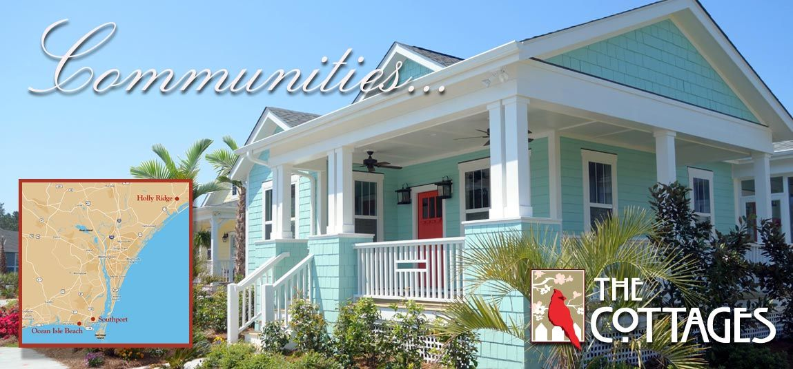 The Cottages At Ocean Isle Beach Home Bungalow House Plans Cottage Homes Cottage