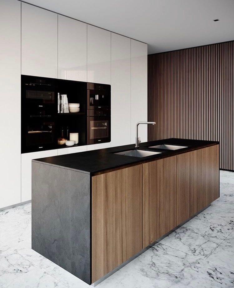 Doorgang achteraan keuken richting wasplaaats interior - Cocinas ocultas ...
