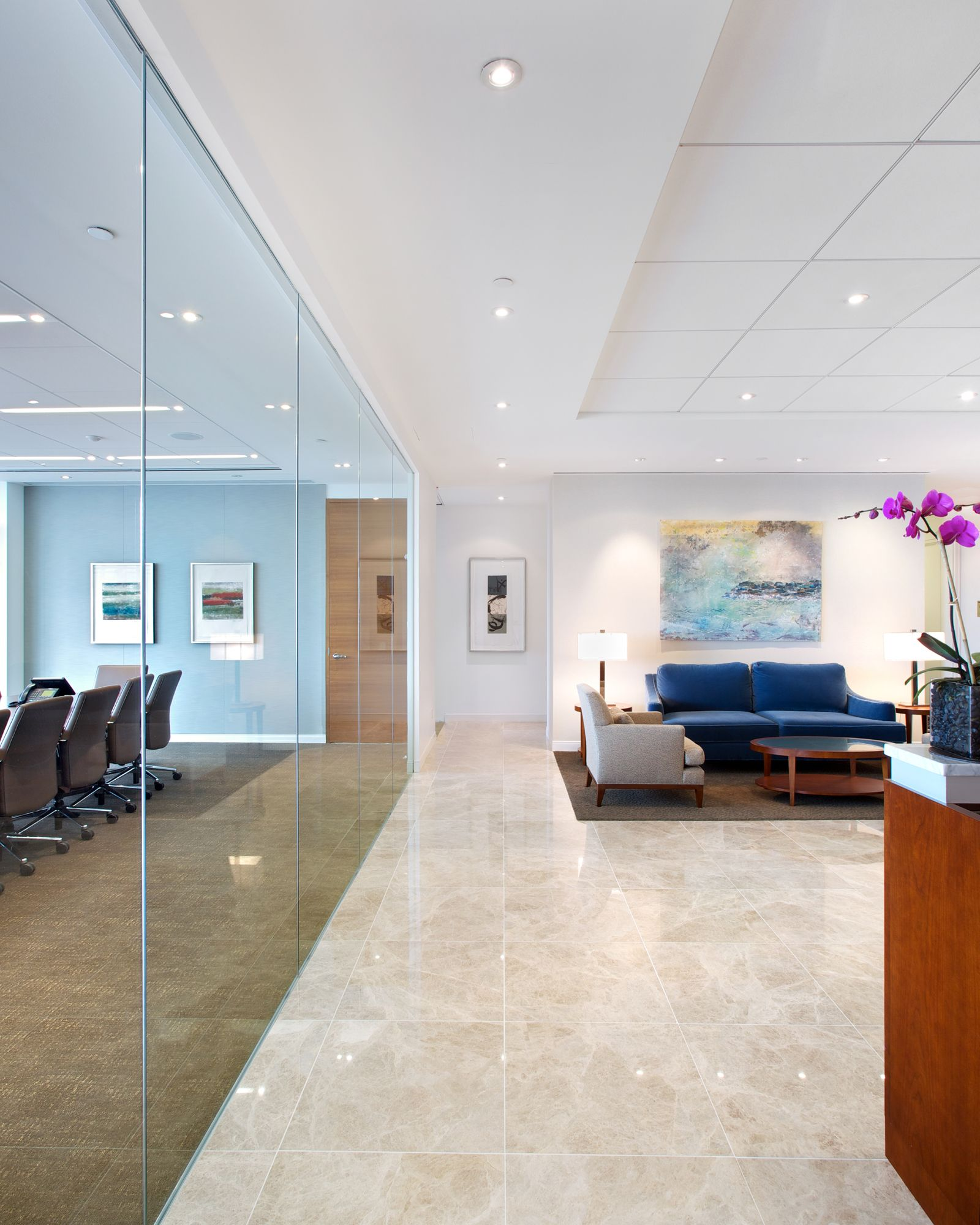 Reception area, Pepper Hamilton LLP in New York   Francis Cauffman ...