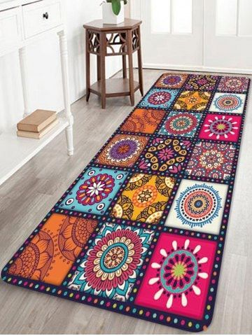 Bohemia Patchwork Pattern Water Absorption Area Rug