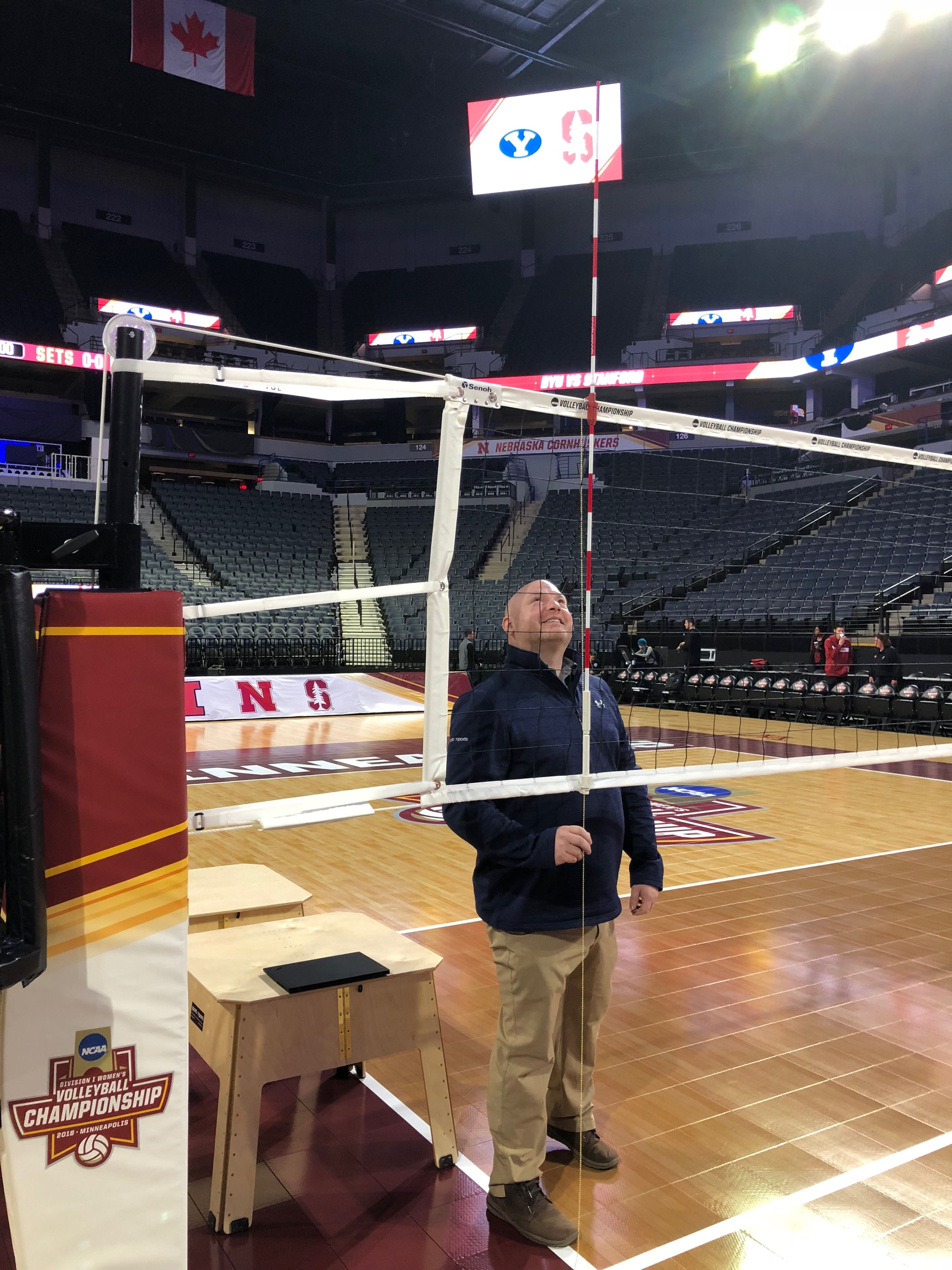 Checking Net Height For The Championship The Championship Volleyball Sports