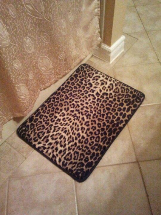 Leopard Print Bath Mat With