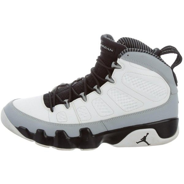 half off 2f1d2 d910a ... new style pre owned nike air jordan retro 9 barons sneakers 175 liked  on polyvore featuring ...
