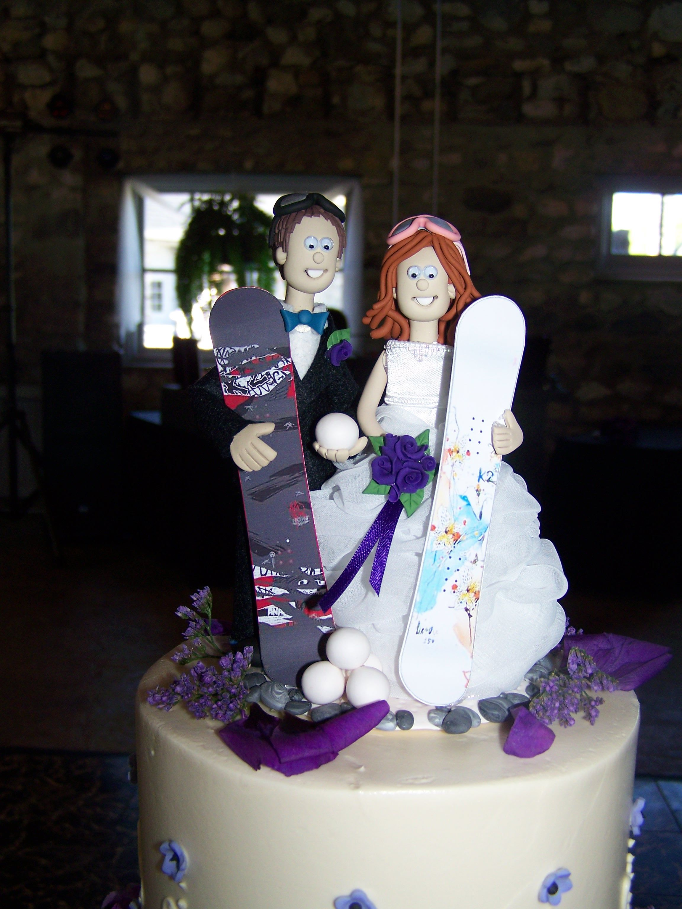 skiers wedding cake toppers water skiing wedding cake topper snowboard community 20178