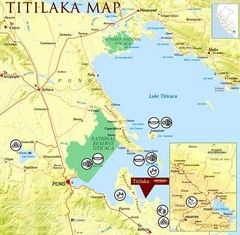 Map Of Lake Titicaca The Biggest Lake In South America And The