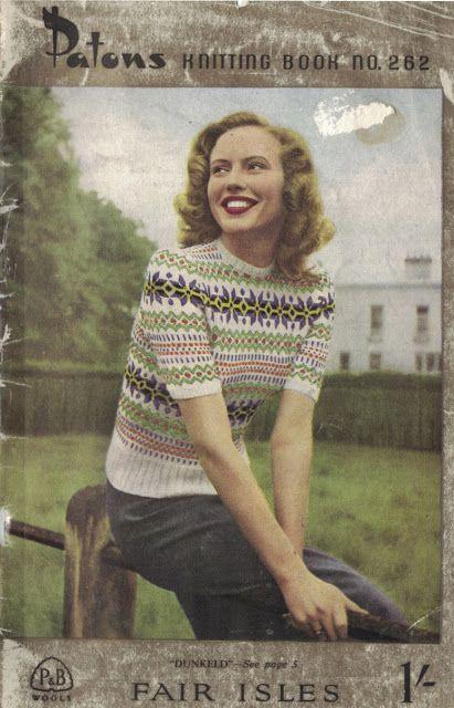 The Vintage Pattern Files: Free 1940s Knitting Pattern - Women's ...